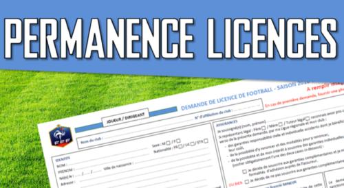 Dates et horaires des permanences pour vos licences